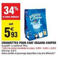 Croquettes pour Chats Edgard & Cooper chez Carrefour Market (22/10 – 27/10)