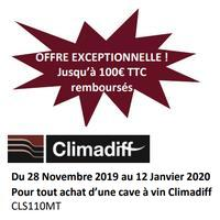 Offre de Remboursement Climadiff : 100€ Remboursés sur Cave à Vin