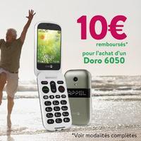 Offre de Remboursement Doro : 10€ Remboursés sur Téléphone 6050