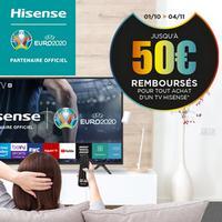 Offre de Remboursement Hisense : Jusqu'à 50€ Remboursés sur Téléviseur