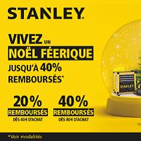 Offre de remboursement Stanley : Jusqu'à 40% Remboursés sur la Gamme Rangement