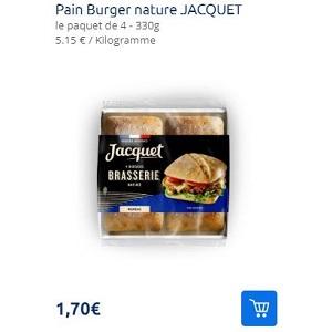 Pains à Burger Brasserie Jacquet Partout
