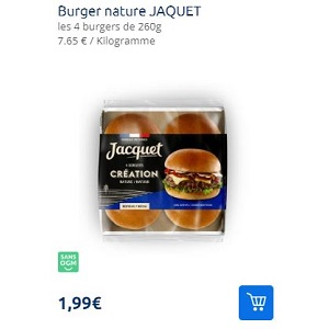 Pains à Burger Création Jacquet Partout