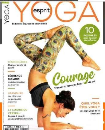10,9€ l'abonnement annuel à la revue Esprit Yoga au lieu de 33€