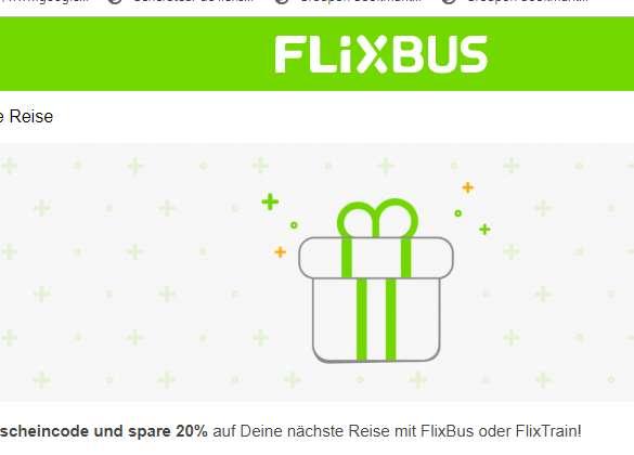Code  de réduction Flixbus de 20%  sur simple demande