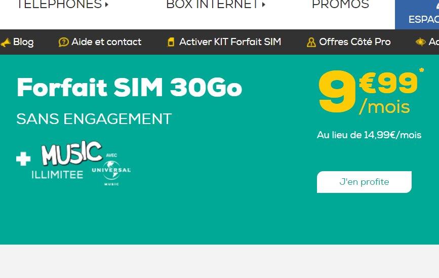 La Poste Mobile : 9.99€ par mois le forfait illimité + 30go + musiques illimitées