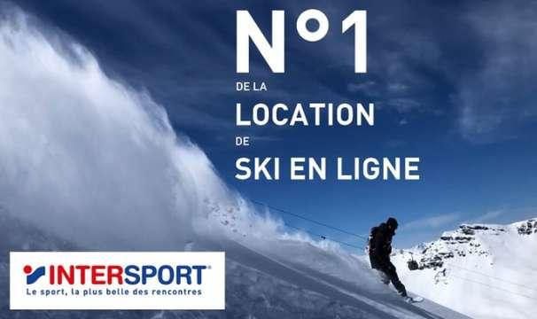 35% de réduction sur les locations de ski Intersport