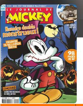 32,9€ l'abonnement au Journal de Mickey 30 numeros