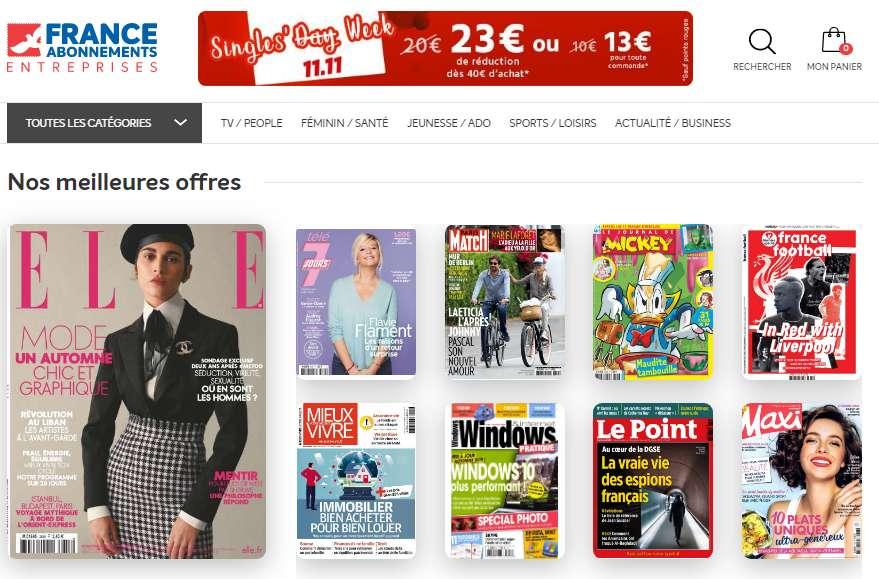 France Abonnement : 23€ de reduction pour 40 d'achats