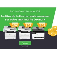 Offre de Remboursement Lexmark : Jusqu'à 40€ Remboursés sur une Imprimante