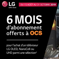 Bon Plan LG : 6 Mois d'Abonnement Offert à OCS