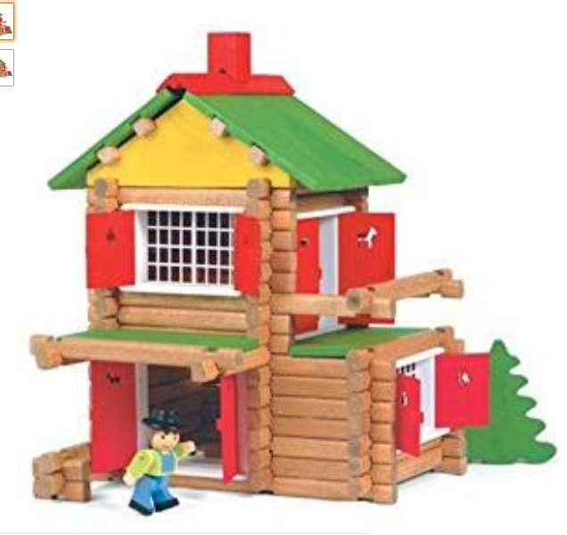 22,99€ la maison en bois Jeujura de 135 pieces
