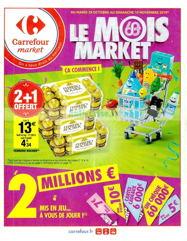 Carrefour Market Le Nouveau Catalogue Du 29 Octobre Au 10 Novembre 2019 Est Disponible Decouvrez Les Bons Plans Du Dernier Catalogue