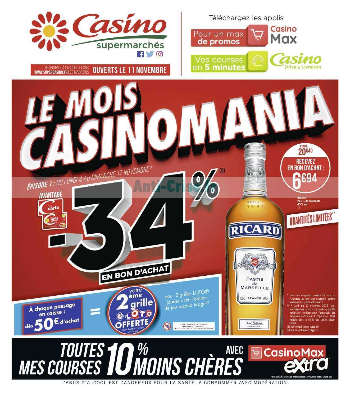 Catalogue Casino du 04 au 17 novembre 2019 (Le Mois)