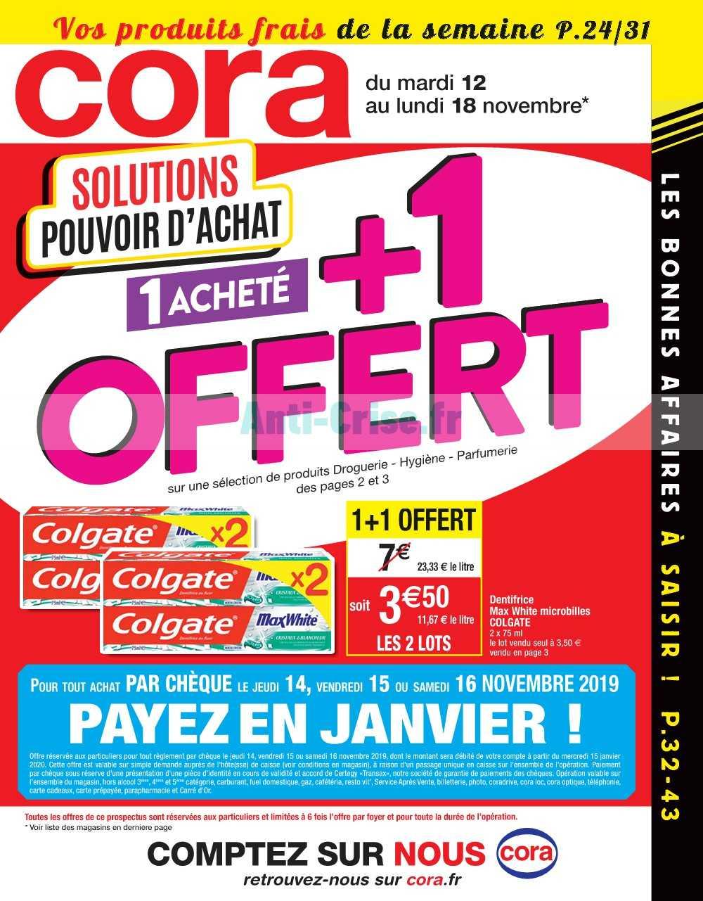 Catalogue Cora du 12 au 18 novembre 2019 (Alsace)