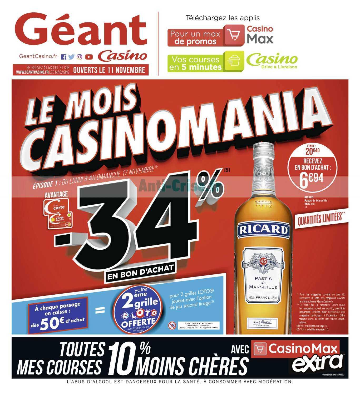 Catalogue Géant Casino du 04 au 17 novembre 2019