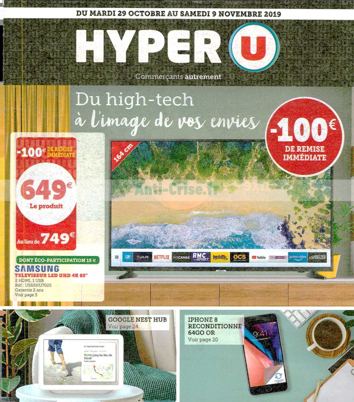 Catalogue Hyper U Du 29 Octobre Au 09 Novembre 2019 High Tech Catalogues Promos Bons Plans Economisez Anti Crise Fr