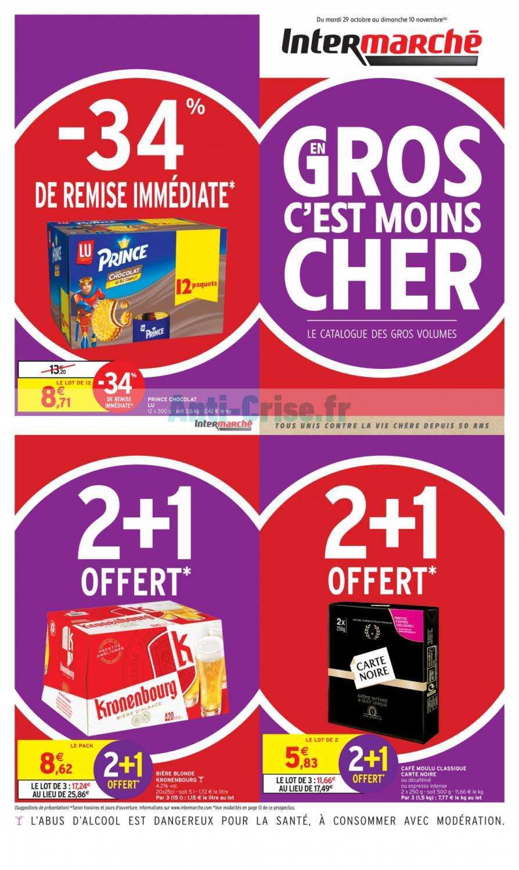 Catalogue Intermarche Du 29 Octobre Au 10 Novembre 2019 En Gros Catalogues Promos Bons Plans Economisez Anti Crise Fr