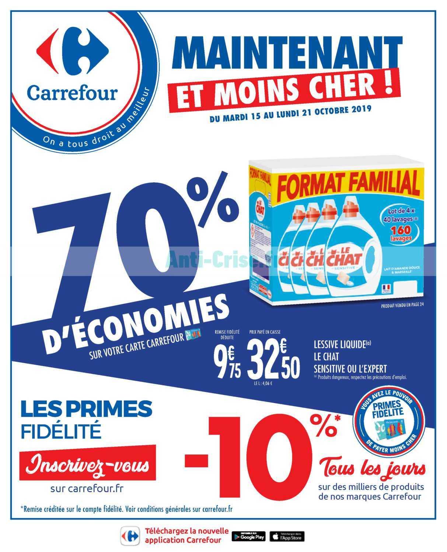 Catalogue Carrefour du 15 au 21 octobre 2019