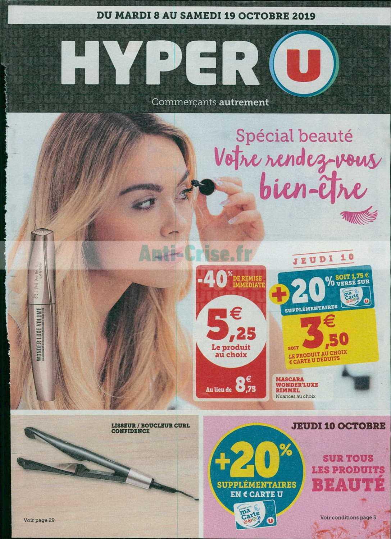 Catalogue Hyper U du 08 au 19 octobre 2019 (Beauté)