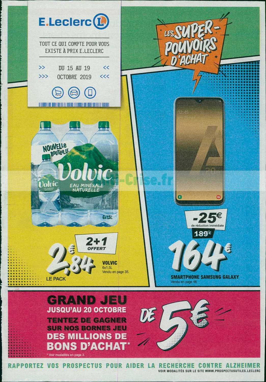 Catalogue Leclerc du 15 au 19 octobre 2019