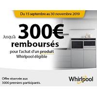 Offre de Remboursement Whirlpool : Jusqu'à 300€ Remboursés pour l'achat d'un Electroménager