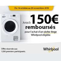 Offre de Remboursement Whirlpool : Jusqu'à 150€ Remboursés pour l'achat d'un Sèche-Linge