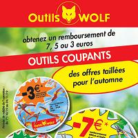 Offre de Remboursement Outils Wolf : Jusqu'à 7€ Remboursés