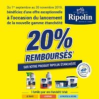Offre de Remboursement Ripolin : 20% Remboursés sur un Produit Etanchéité