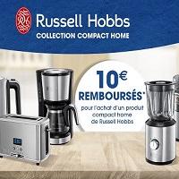 Offre de Remboursement Russell Hobbs : 10€ Remboursés sur Quoty