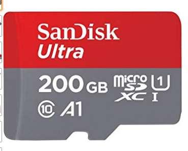 29,99€ la micro sd 200go Sandisk