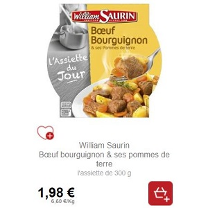Assiette Micro-Ondable William Saurin Partout