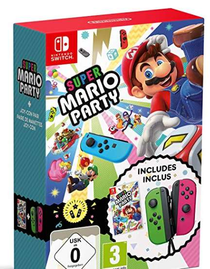 87€ le pack Mario Party Switch + 2 joycons