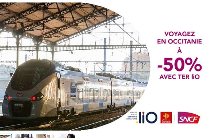 50% sur des trains TER au depart de Nimes, Montpellier , Toulouse