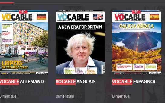 16,9€ l'abonnement à Vocable + cd (Anglais , Allemand ou Espagnol