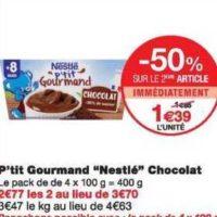 P'tit Gourmand Nestlé Bébé chez Monoprix (20/11 – 01/12)