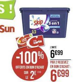 Lessive en capsules Skip chez Géant Casino (25/11 – 08/12)