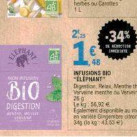 Infusion bio Elephant chez Leclerc (13/11 – 23/11)