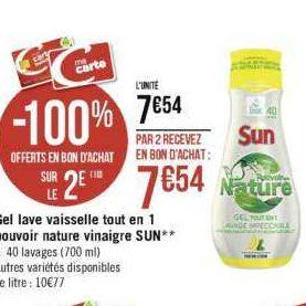 Gel Lave-vaisselle Sun chez Casino (25/11 – 08/12)