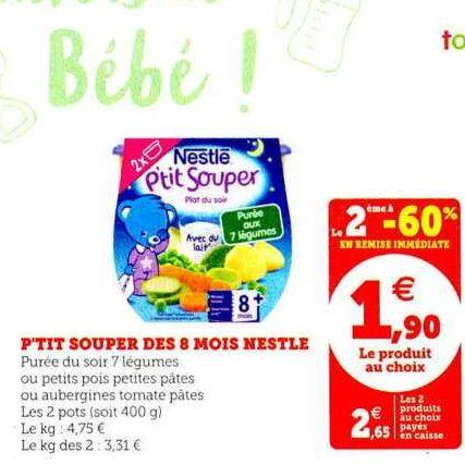 P'tit Souper Nestlé Bébé chez Magasins U (05/11 – 16/11)