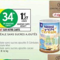 P'tite Céréale Nestlé Bébé chez Intermarché (19/11 – 01/12)
