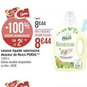 Lessive Liquide Naturissime Persil chez Casino (25/11 – 08/12)