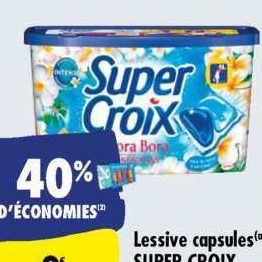 Lessive en capsules Super Croix chez Carrefour (12/11 – 18/11)
