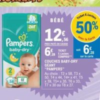 Couches Baby-dry Pampers chez Leclerc Nord (19/11 – 30/11)