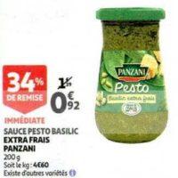 Sauce Pesto Panzani chez Auchan (20/11 – 26/11)