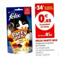 Friandises pour Chats Felix chez Magasins U (13/11 – 23/11)