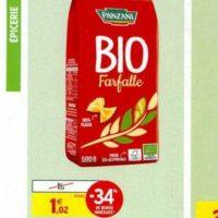 Pâtes Bio Panzani chez Intermarché Sud Bio (13/11 – 24/11)