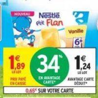 P'tit Flan Nestlé Bébé chez Intermarché (19/11 – 01/12)