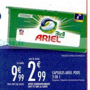 Lessive Ariel Pods 3en1 chez Carrefour Market (19/11 – 01/12)