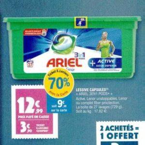 Lessive en capsules Ariel chez Leclerc Nord-Est (12/11 – 16/11)